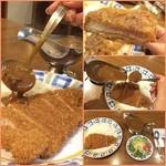 つじ - 料理写真: ✨Today's dinner✨1450yen ロースカツカレー 分かりづらいと思いますがかなりの大盛り店です◝(⁰▿⁰)◜