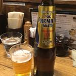 47246386 - ビールは瓶ビールのみ。