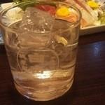 きっちん榮楽 - 1602_みらく_やはりグラスは白岳で