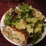 47247305 - ランチ:フリタータと有機野菜のサラダ(量少なめ)