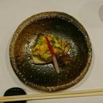 47247538 - サワラ                       菜の花入りのふわふわタマゴのせ                       サワラも柔らかくて一緒に食べると美味しい                       また食べたいです