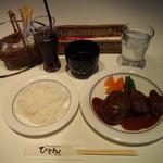 びもん - 和牛ベーシックハンバーグ+チキンカツ750円