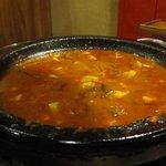 石焼道 - 勿論石鍋なんで食べ終わったら・・・・