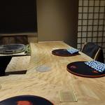 佐藤 - カウンター左奥は個室で、4人のシェフズテーブルです
