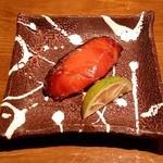 旬の鮮魚と魂の煮込み 照 - 「つぼ鯛のミリン干し」です。