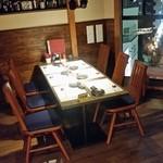 金市朗 - テーブル席も落ち着いた感じで飲めますね