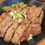 Hawaiian diner HONU - サーロインステーキ丼並盛り