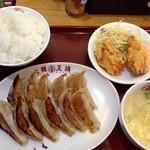 大阪王将 - 餃子定食。