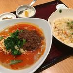 中華園 - 多辣冷やし担々麺炒飯セット