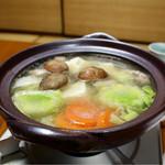 山水荘 - 鴨鍋