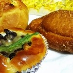 石窯パン工房 カンパーニュ - 惣菜パン盛り合わせ