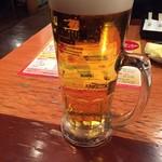 炭火焼肉屋さかい - プレミアムモルツ生ビール大