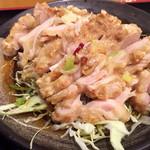 日本橋焼餃子 - 油淋鶏はちょっとイメージと違いました