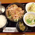 日本橋焼餃子 - 日替わりランチの油淋鶏定食700円