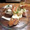 ドノスティア - 料理写真:海老プランチャ×ポテトサラダ、 アンチョビ×キノコのペースト