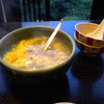 れんが屋 - にんにくのスープ