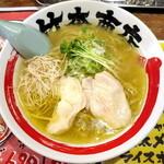 竹本商店 札幌大磯マグロセンター - 種鶏と鶏節そばの塩_690円
