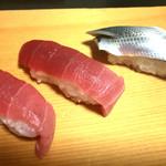 寿司まさ - とろ、こはだ