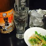 寿司まさ - 焼酎ボトル「田吾作」一升4,500円