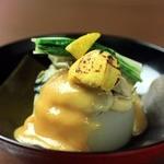 牡蠣と風呂ふき大根の柚子味噌がけ