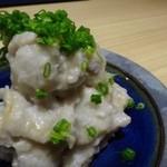 47274521 - 大人のポテサラ(里芋とヤマメのうるか和え:600円)