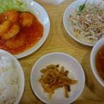 福龍菜館 - エビチリセット