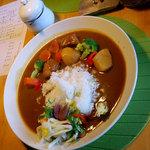 cafe花豆 - 野菜たっぷりカレー