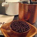 Mole & hosoi coffees - ひやしコーヒーとイチジクのタルト