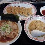 Gyouzanooushou - 東京ラーメンセット(焼きめし並盛り)¥1,018