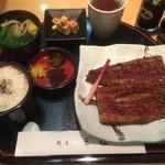 割烹 三佳 - 蒲焼き、肝吸い(2016,1)