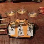 47286522 - 日本酒三種飲み比べ、1200円