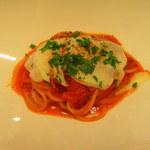 47287151 - トマトソースとスカモルツァのパスタ