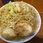 47287564 - ガツ旨らーめん(野菜、脂増し)+味玉