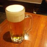豚道楽 新宿南口店 - 生ビール 556円