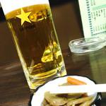 47292264 - 生ビールにお通し