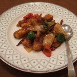 473806 - 白身魚の四川風ピリ辛炒め