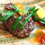 ラ フォンターナ アッヅッラ - 宮崎牛A5フィレ肉のグリリア カラブリア産ンドゥイヤ