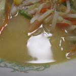 一休庵 - スープの感じ。