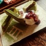 Hashigo Cafe - 抹茶のチーズケーキ