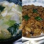 鮮龍 - 料理写真:ワンタン麺と鮮龍丼