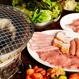 BBQ食べ飲み放題コースが3500円!!