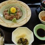 海鮮料理 竹ノ内 - 定食一膳です。なめろう定食。