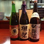 Uo - 日本酒:繁桝&獺祭&出羽桜桜花
