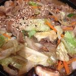 韓国料理 豚肉専門店 福ブタ屋 - 鉄板焼きプルコギのアップ