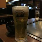 鉄板焼・お好み焼 加屋 - H28.2月 生ビール♡