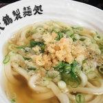 朝打ちうどん 大鶴製麺処 - かけうどん350円