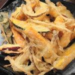 朝打ちうどん 大鶴製麺処 - かきあげ250円