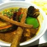 プラスワン - 角煮と野菜のスープカレー 辛さ5番
