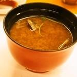 幸楽 - 赤出汁 アサリ