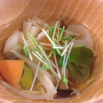 47331957 - ランチの根菜スープ